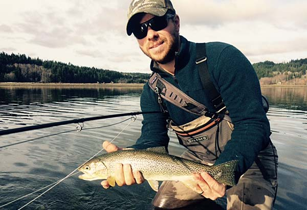 Sea Run Cut-throat Trout Fly Fishing in Salish Sea